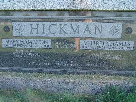 HAMILTON HICKMAN, MARY - Warren County, Iowa | MARY HAMILTON HICKMAN
