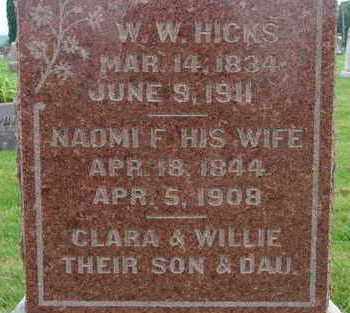 HICKS, NAOMI F - Warren County, Iowa | NAOMI F HICKS