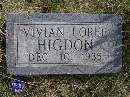 HIGDON, VIVIAN LOREE - Warren County, Iowa | VIVIAN LOREE HIGDON