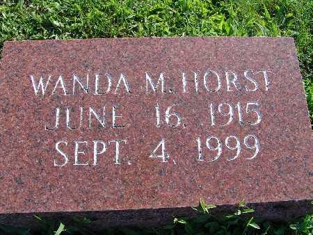 SNUGGS HORST, WANDA M - Warren County, Iowa | WANDA M SNUGGS HORST
