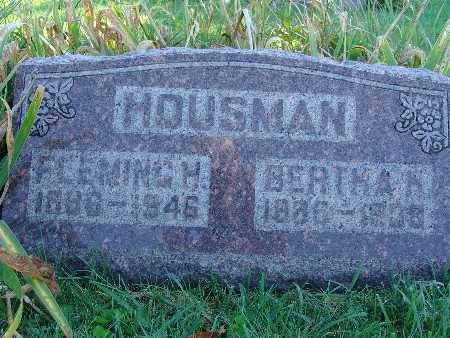 HOUSMAN, BERTHA H - Warren County, Iowa | BERTHA H HOUSMAN