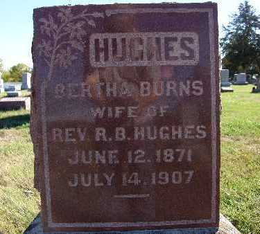 HUGHES, BERTHA BURNS - Warren County, Iowa | BERTHA BURNS HUGHES