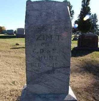 HUNT, ZIM T. - Warren County, Iowa   ZIM T. HUNT