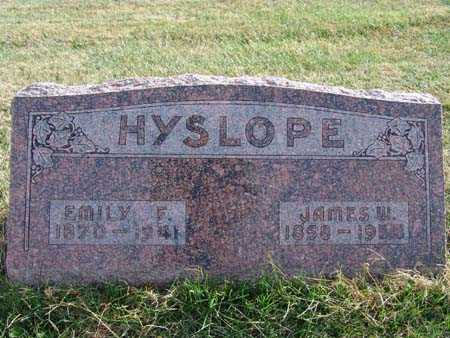 HYSLOPE, JAMES W. - Warren County, Iowa | JAMES W. HYSLOPE