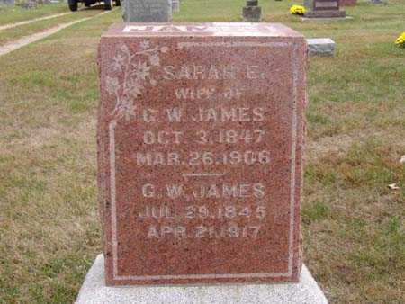 JAMES, G. W. - Warren County, Iowa | G. W. JAMES