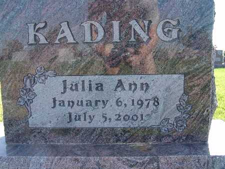 KADING, JULIA ANN - Warren County, Iowa | JULIA ANN KADING
