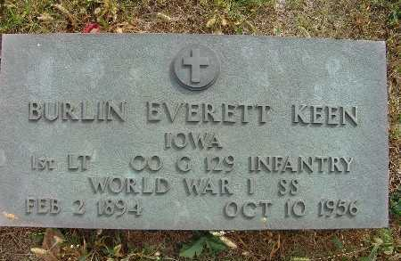 KEEN, BURLIN EVERETT - Warren County, Iowa | BURLIN EVERETT KEEN