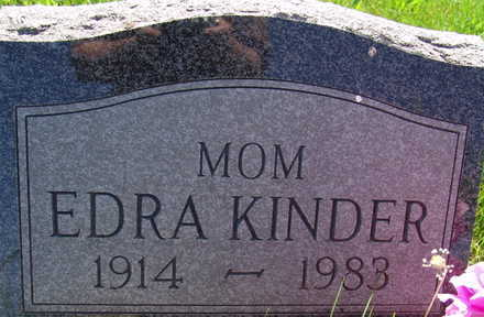KINDER, EDRA - Warren County, Iowa | EDRA KINDER