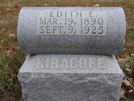 KIRACOFE, EDITH E. - Warren County, Iowa | EDITH E. KIRACOFE