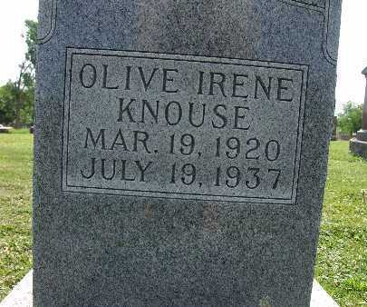 KNOUSE, OLIVE IRENE - Warren County, Iowa | OLIVE IRENE KNOUSE
