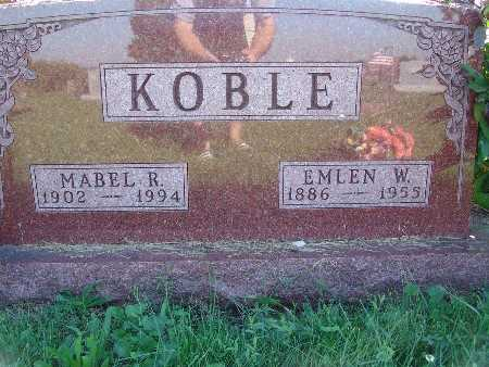 KOBLE, EMLEN W - Warren County, Iowa | EMLEN W KOBLE