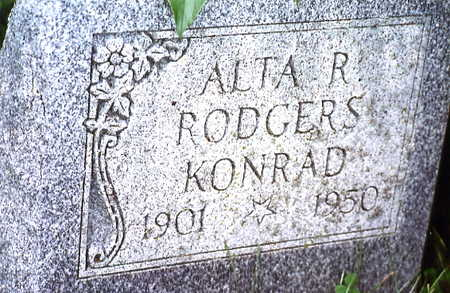 RODGERS KONRAD, ALTA R. - Warren County, Iowa | ALTA R. RODGERS KONRAD