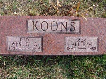 KOONS, ALICE M. - Warren County, Iowa | ALICE M. KOONS