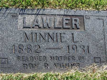 LAWLER, MINNIE L - Warren County, Iowa | MINNIE L LAWLER