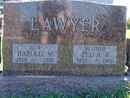 LAWYER, HAROLD W - Warren County, Iowa   HAROLD W LAWYER