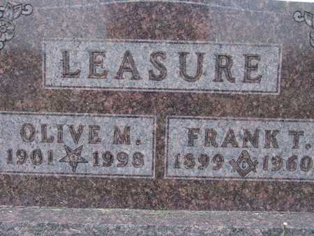 LEASURE, OLIVE M. - Warren County, Iowa | OLIVE M. LEASURE