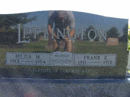 LETTINGTON, HILDA M. - Warren County, Iowa | HILDA M. LETTINGTON