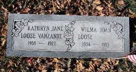 LOOSE VANZANTE, KATHRYN JANE - Warren County, Iowa | KATHRYN JANE LOOSE VANZANTE