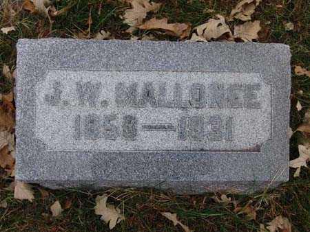 MALLONEE, J. W. - Warren County, Iowa | J. W. MALLONEE