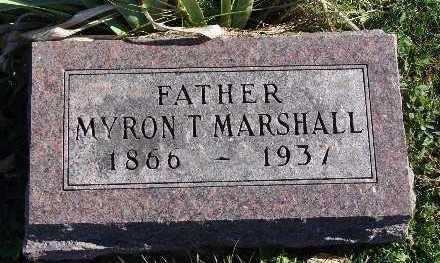 MARSHALL, MYRON T. - Warren County, Iowa   MYRON T. MARSHALL