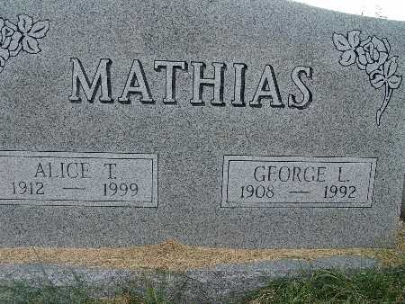 MATHIAS, GEORGE L. - Warren County, Iowa | GEORGE L. MATHIAS