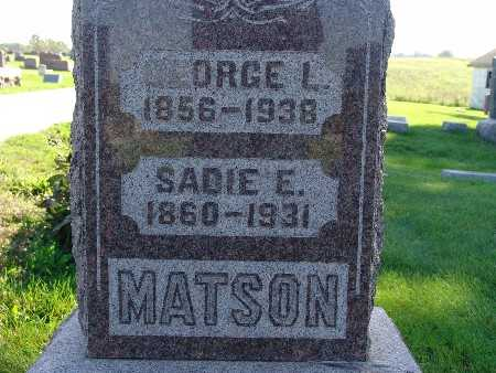 MATSON, GEORGE L - Warren County, Iowa | GEORGE L MATSON