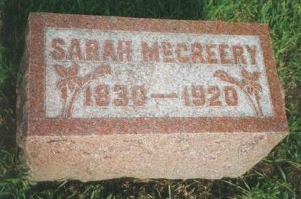 MCCREERY, SARAH - Warren County, Iowa | SARAH MCCREERY