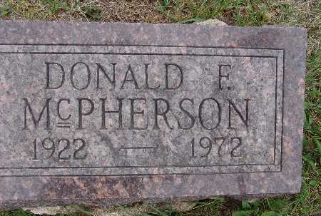 MCPHERSON, DONALD F. - Warren County, Iowa | DONALD F. MCPHERSON