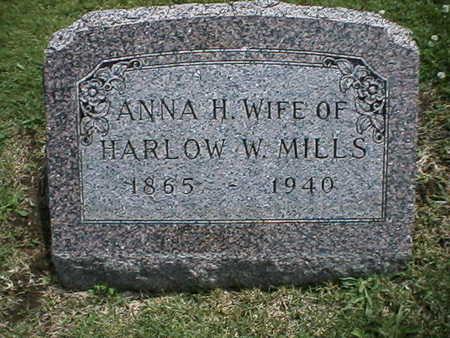 MILLS, ANNA - Warren County, Iowa   ANNA MILLS