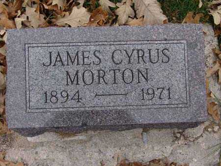 MORTON, JAMES CYRUS - Warren County, Iowa | JAMES CYRUS MORTON
