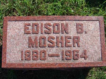 MOSHER, EDISON B - Warren County, Iowa | EDISON B MOSHER