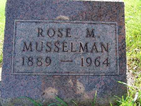 MUSSELMAN, ROSE M - Warren County, Iowa | ROSE M MUSSELMAN