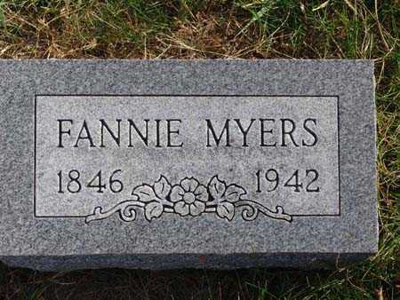 MYERS, FANNIE - Warren County, Iowa | FANNIE MYERS