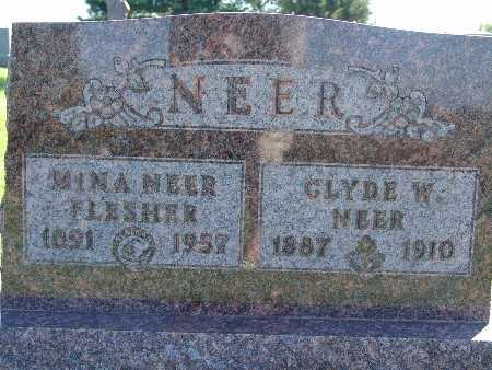 NEER, CLYDE W - Warren County, Iowa | CLYDE W NEER