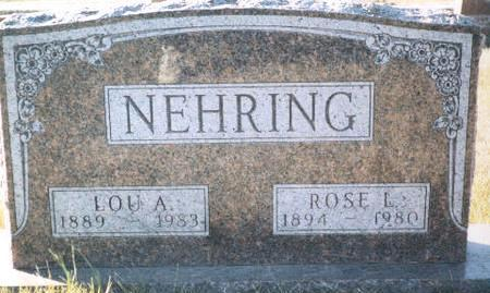 NEHRING, LOU - Warren County, Iowa | LOU NEHRING