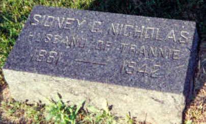 NICHOLAS, SIDNEY C. - Warren County, Iowa | SIDNEY C. NICHOLAS