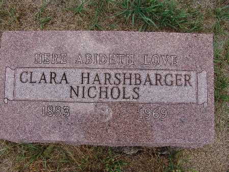 HARSHBARGER NICHOLS, CLARA - Warren County, Iowa | CLARA HARSHBARGER NICHOLS