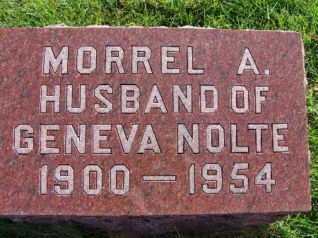NOLTE, MORREL A. - Warren County, Iowa | MORREL A. NOLTE