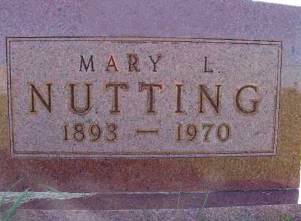 NUTTING, MARY L. - Warren County, Iowa | MARY L. NUTTING