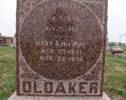 SMITH OLDAKER, MARY A. - Warren County, Iowa | MARY A. SMITH OLDAKER