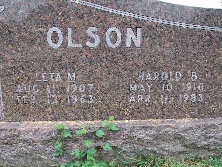 OLSON, HAROLD B. - Warren County, Iowa | HAROLD B. OLSON
