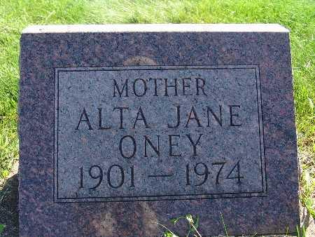 ONEY, ALTA JANE - Warren County, Iowa | ALTA JANE ONEY