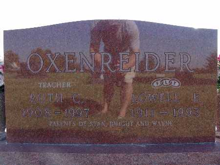 OXENREIDER, LOWELL E. - Warren County, Iowa | LOWELL E. OXENREIDER