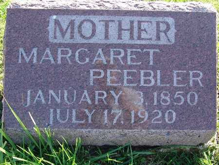 PEEBLER, MARGARET - Warren County, Iowa | MARGARET PEEBLER