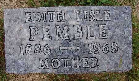 PEMBLE, EDITH LISLE - Warren County, Iowa | EDITH LISLE PEMBLE