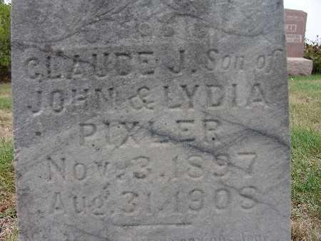 PIXLER, CLAUDE J. - Warren County, Iowa | CLAUDE J. PIXLER
