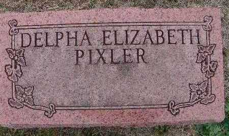 PIXLER, DELPHA ELIZABETH - Warren County, Iowa | DELPHA ELIZABETH PIXLER