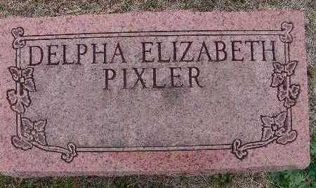 PIXLER, DELPHA ELIZABETH - Warren County, Iowa | DELPHA ELIZABETH PIXLER