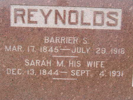 REYNOLDS, BARRIER S - Warren County, Iowa | BARRIER S REYNOLDS