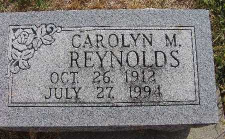REYNOLDS, CAROLYN M. - Warren County, Iowa | CAROLYN M. REYNOLDS